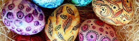 Мастер-класс по росписи яиц воском